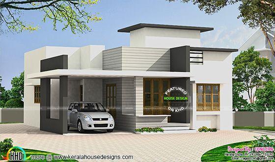 Small Budget Flat Roof House Kerala House Design Flat Roof House Simple House Design