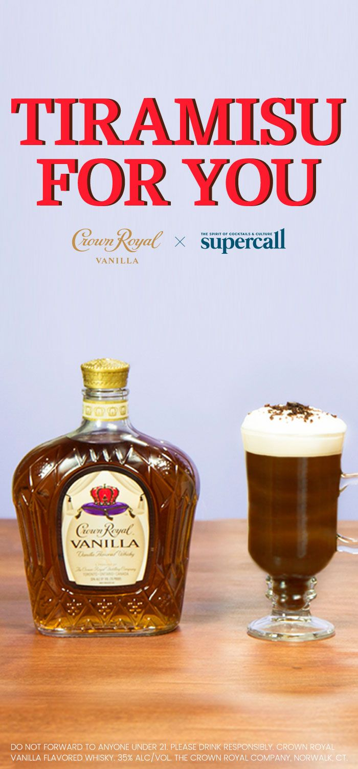What happens when you're stuck trying to decide between coffee, cake, or a cocktail? Have a touch of all three in the incredible Tiramisu for You. This drink is a quick and easy spin on the classic tiramisu using Crown Royal Vanilla and cold brew coffee concentrate. Crème de cacao and mascarpone whipped cream add a feather-light, frothy dimension to the proceedings, with shaved dark chocolate and coffee beans topping things off with panache. #Ad