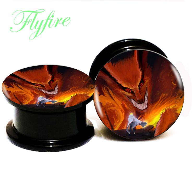 Find More Body Jewelry Information about 1pair/lot Japanese Anime Black Acrylic Ear Gauge Plug And Tunnel Stretcher Tappi Per Le Orecchie 6MM 25MM 2G 1'' AC101,High Quality gauge plug,China ear gauges plugs Suppliers, Cheap plugs and tunnels from DreamFire Store on Aliexpress.com