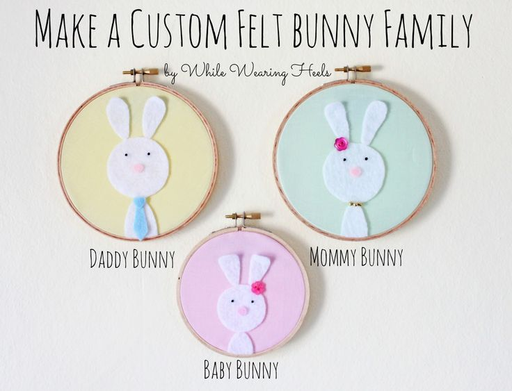 438 best easter images on pinterest easter ideas easter crafts make a custom felt bunny family negle Gallery