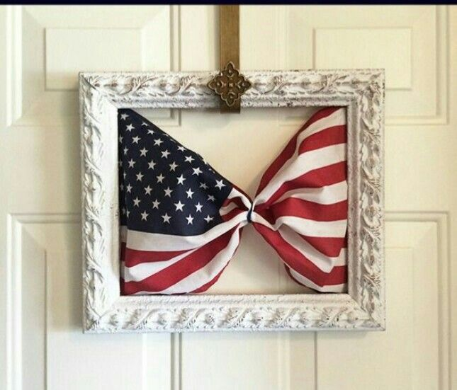 Framed Flag, Patriotic Decor Ideas, 4th of July, Patriotic Decor, Fourth, Independence Day, Memorial Day, Labor Day, President's Day, Armed Forces Day, Flag Day, Red White & Blue, DIY, Wall Art