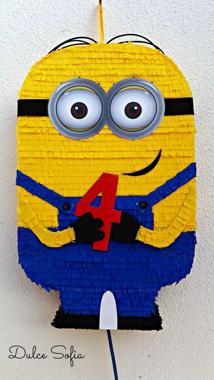 "Piñata ""Minion"" #minions #piñatas"