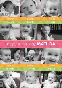 Cute idea...! Mixbook 1st Birthday Collage Birthday Party Invitations