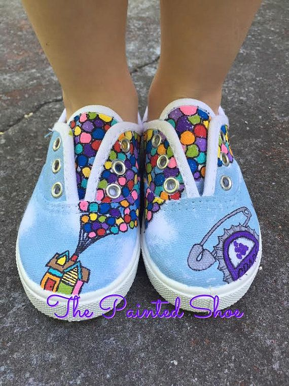 Painted Shoes Disney Painted Shoes Up by ThePaintedShoeDesign