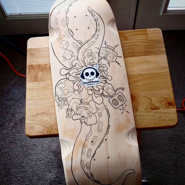 New custom deck for Inktober 2017! All hand drawn ink. Will be adding color at a later point. Let me know what you think! #Deadphonesclothing #inktober #inktober2017 #customdeck #custom #deck #skatedeck #skate #skateboard #skateboarding #street #streetwear #clothingbrand #brand #octopus #doodle #inking #ink #brushpen #inkpen #handmade #wip #workinprogress #cruiser #oldschool