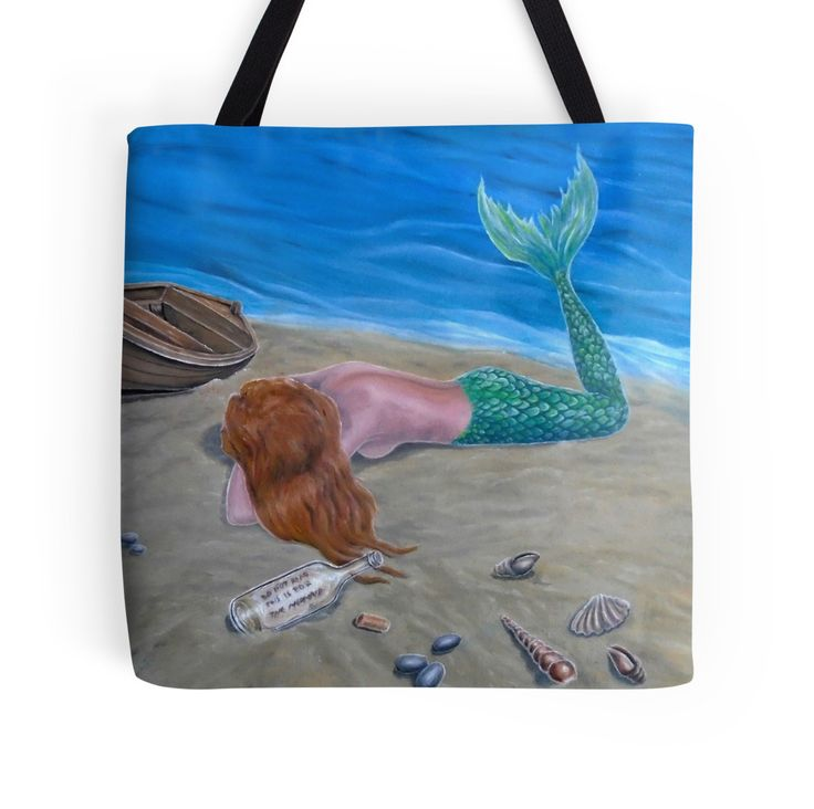Tote Bag,   mermaid,aqua,blue,colorful,cool,beautiful,unique,trendy,artistic,unusual,accessories,for sale,design,items,products,gifts,presents,ideas,redbubble