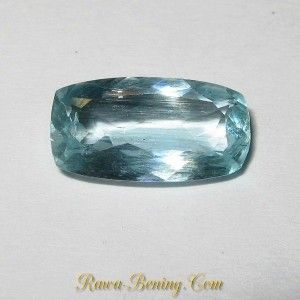 Batu Permata Berkualitas Cushion Rectangular Aquamarine 1.85 carat