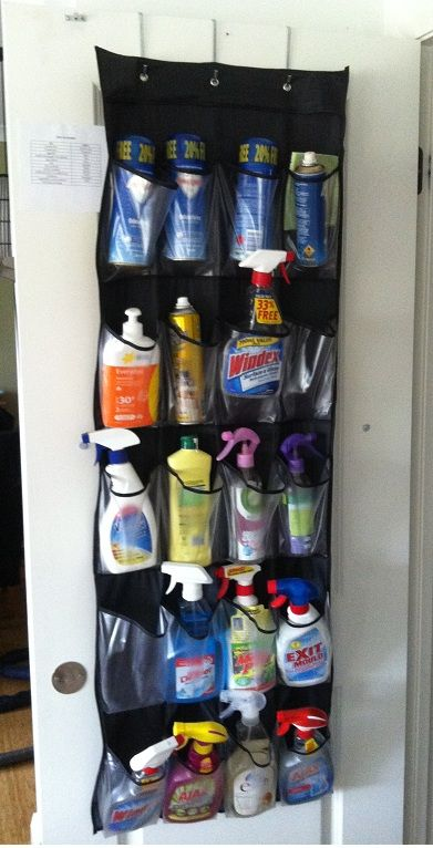 Clever idea for cleaning storage