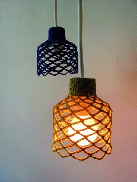 13 best Lampara de Crochet images on Pinterest Lamp shades