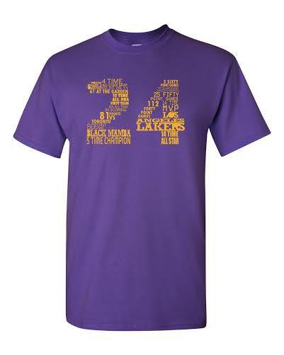 "Lakers ""Kobe Bryant 24"" Shirt - Purple"