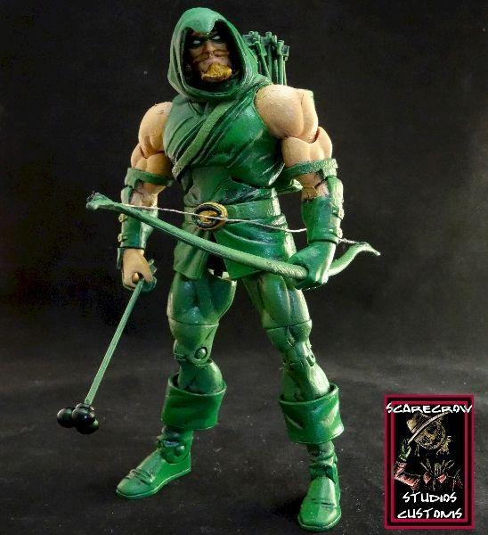 Green arrow back quiver
