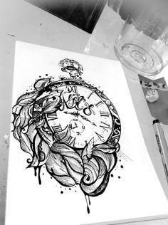 tattoo clock designs - Google zoeken