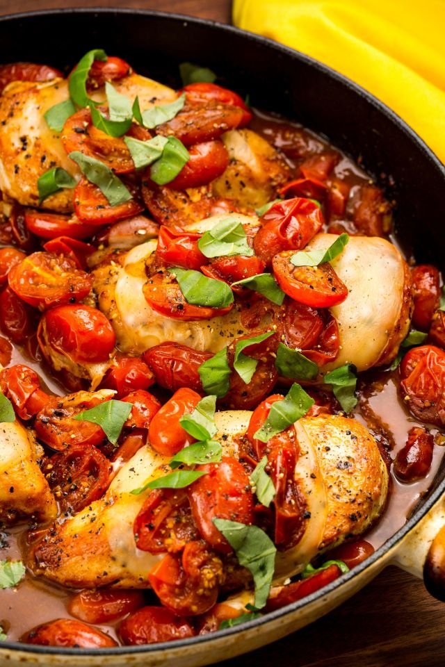 You Need Caprese Chicken Like The Earth Needs The Sun  - Delish.com