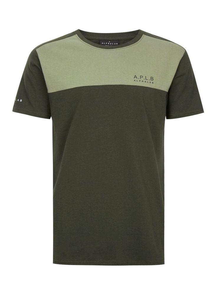 ALPHALAB Khaki Logo T-Shirt