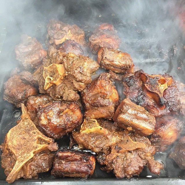 Smoked Jamaican jerk Oxtails