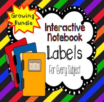 It's that time of year where we begin planning for our new classes. Need labels for your interactive journals? I print four labels to a page of the half sheet labels. There will be 25+ labels when the bundle is finished.