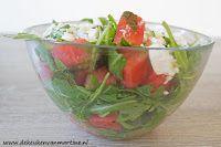 De keuken van Martine: Salade van rucola, watermeloen en feta
