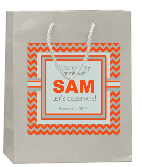 20 Welcome Bag Labels for Bar or Bat by 4WeddingWelcomeBags