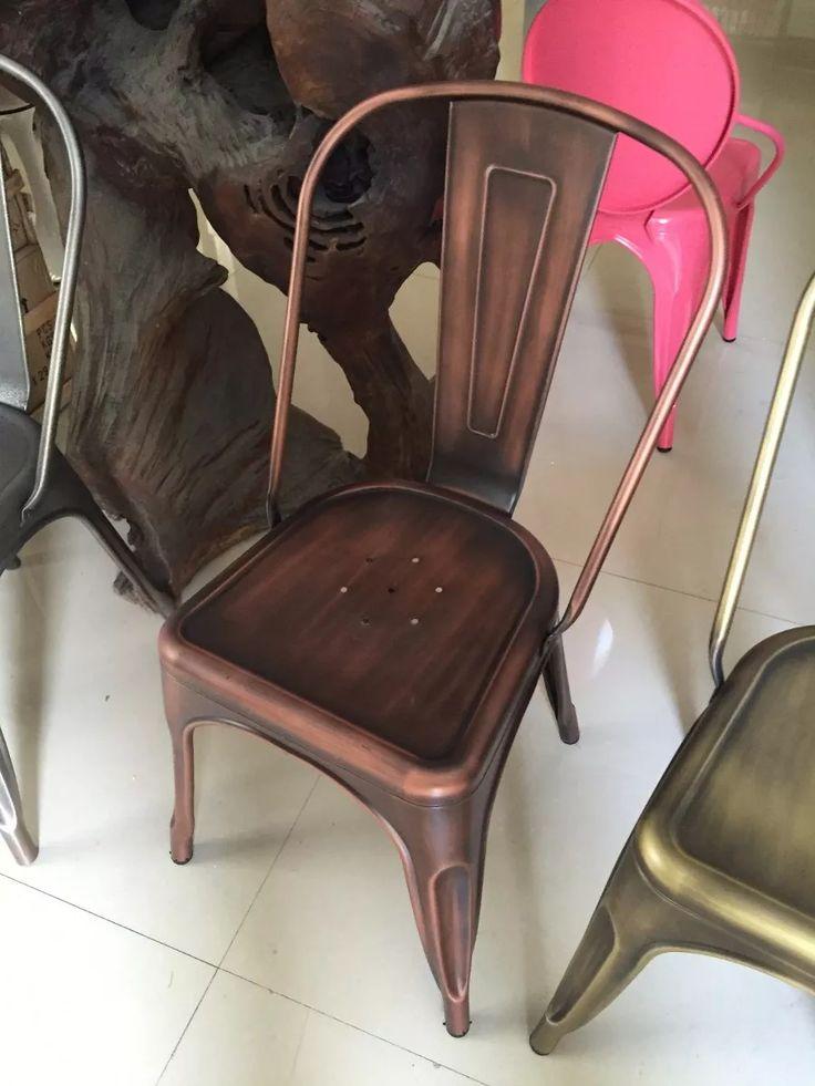cadeira tolix envelhecida - cor bronze