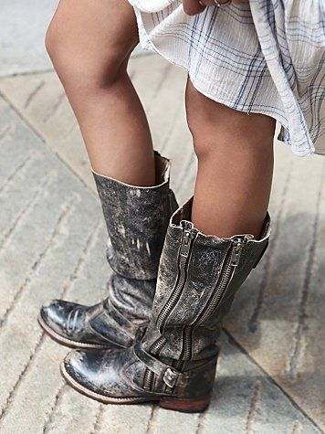 Love these..... If my size comes back in stock these are totally my 2014 boots - Free People Davi Distress Tall Boot