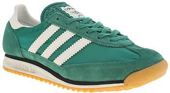 Womens sea green adidas dark green sl 72 trainers from Schuh - £60 at ClothingByColour.com