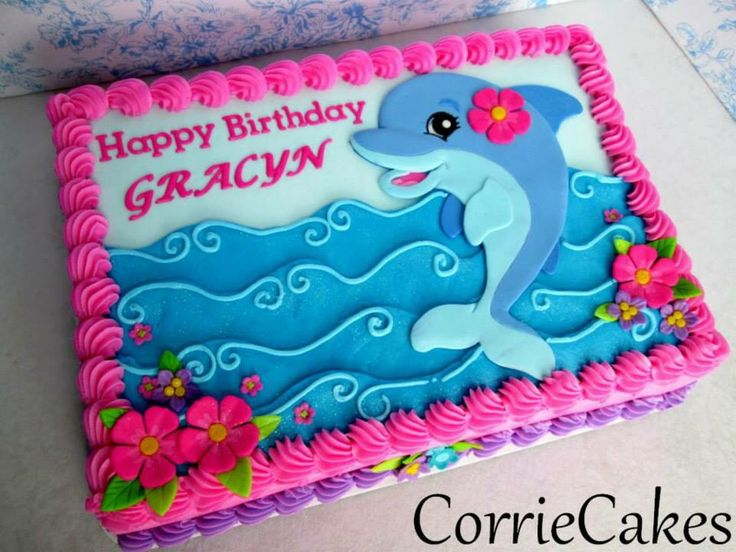 Dolphin Cake - K likes the dolphin and waves from this
