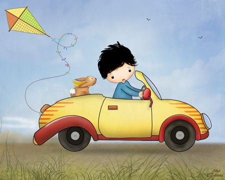 """""""My Yellow Car"""" Reproduction art print  Printed on archival matte paper, using UltraChrome pigment ink (The very best!) which are tested to last over 100 years!  Size options: 1. Image size 7""""x9"""" (18X23cm) centered on an 8.3"""" x 11.7""""(A4) paper. 2. Image size is 8""""x10"""" (20.3X25.4cm) centered on an 8.3"""" x 11.7""""(A4) paper. 3. Image size is 11""""x14"""" (28X35.50cm) centered on an 13"""" x 19""""(A3 - 33X48.2cm) paper 4. Image size is 12""""x15"""" (30.5X38cm) centered on an 13"""" x 19""""(A3 - 33X48.2cm) ..."""
