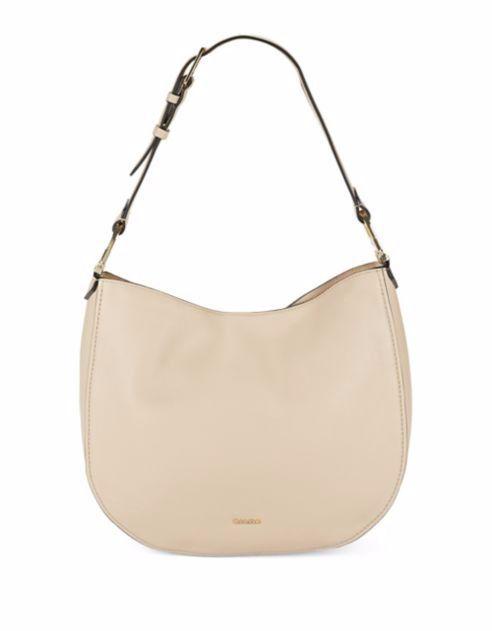 af70a67255 Calvin Klein Erica Pebbled Leather Hobo Bag Handbag Leather Wheat NWT $248  #CalvinKlein #Hobo