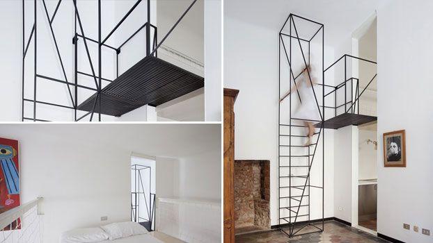 Scala per interni in ferro minimalista a Milano