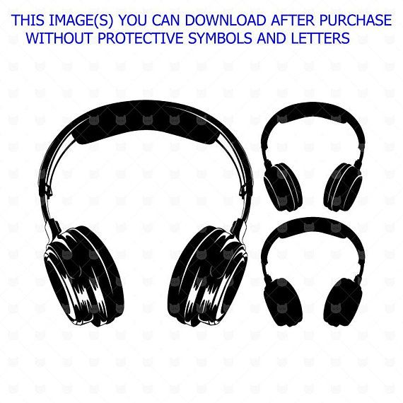8a1e1e766b9 Headphones svg, Headphones cut file, Earphone clip art, Silhouette,  Headphones Wall decor, Headset cut file svg, Music vector clip art in 2019  | Products ...