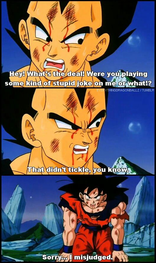 That Didnt Tickle You Know Awesome Dbz Stuff Dragon Ball