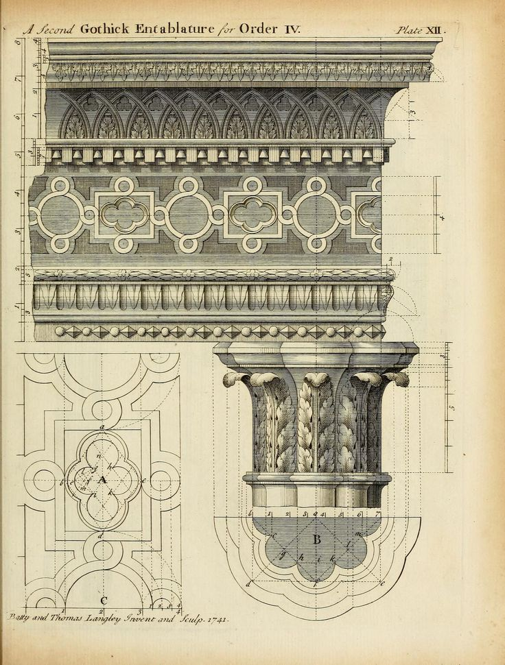 Design for a Gothic Entablature