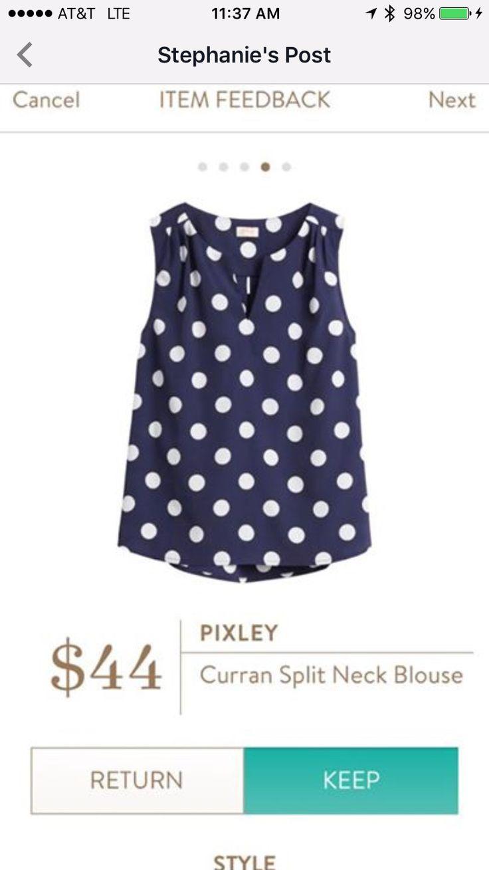 Stitch fix Pixley Curran Split Neck Blouse