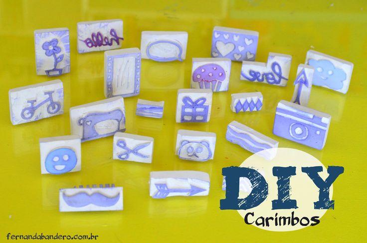 DIY Carimbos de Borracha
