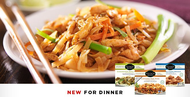 New for Dinner: Saffron Road Gourmet Entrees. Now available in the freezer aisle @Straub's Markets. Premium all #natural ingredients results in delicious flavors and authentic recipes in just 5 minutes. Lamb Saag, Lamb Vindaloo, Chicken Tikka Masala. Chicken Pad Thai, and Lemongrass Basil Chicken