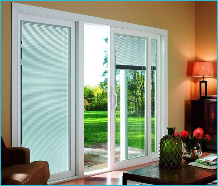 sliding glass patio doors with blinds home design ideas