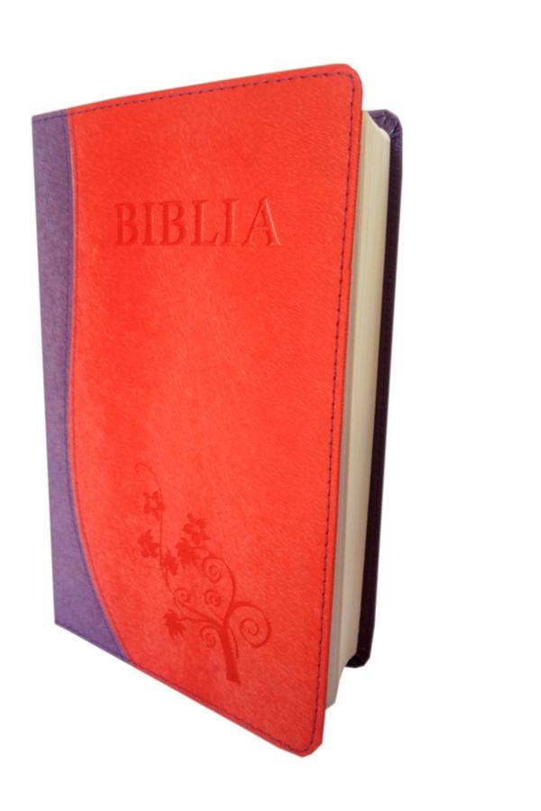 Biblia NTR (Biblia Noua Traducere), coperta imitatie piele, mov | roz inchis