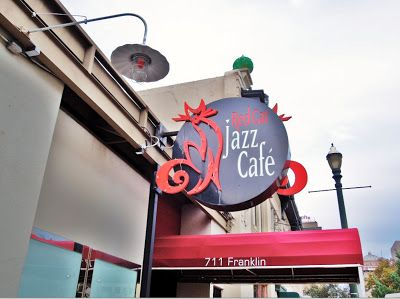 Downtown Houston - Historic Magnolia Brewery Building - Red Cat Jazz Cafe