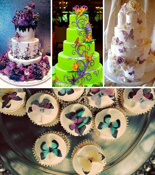 Torta De Mariposas Comidas Y Queques Pinterest