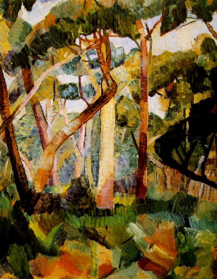 "Bush with White Gum by Grace Cossington Smith (1892 –1984), an Austrtalian painter mentioned by Roger McDonald in his story ""The Bullock Run."""