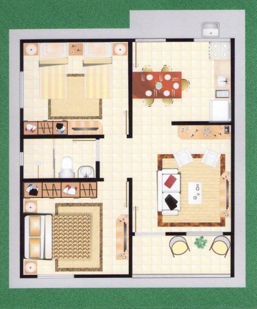 25 melhores ideias sobre plantas de casas pequenas no for Plantas arquitectonicas de casas