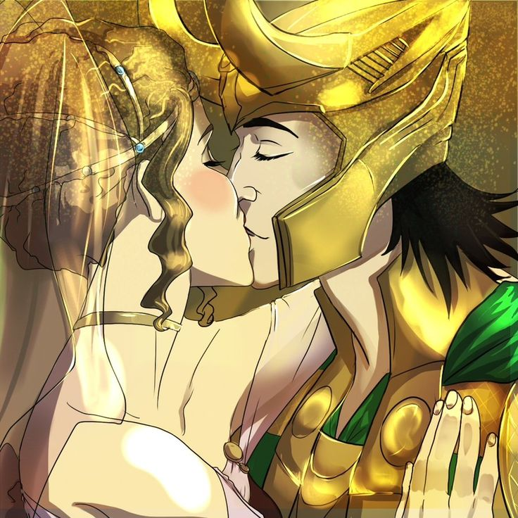 "Loki and Sigyn ""The most beautiful essence in all the nine realms"" by gavorche-san.deviantart.com"