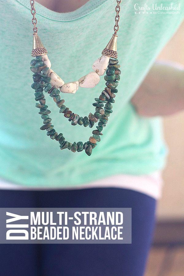 Beaded Multi-strand DIY Necklace