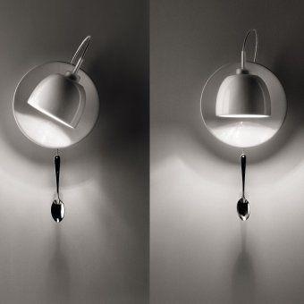 Cute  lightaulait wandleuchte lamp gag design spoon Light au Lait wirkt