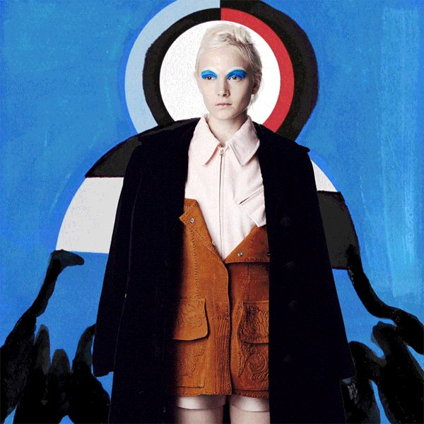 Model Maja Soloman by Quentin Jones and fashion editor Agata Belcen's for AnOther magazine's animated gifs