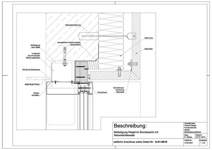 A-02-0021 Befestigung Riegel im Sturzbereich mit Natursteinfassade-A-02-0021