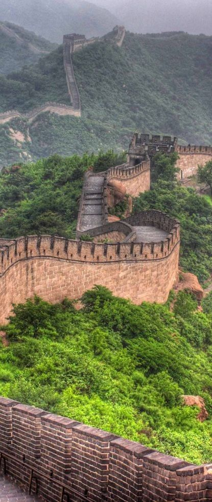 The majestic Great Wall of China.