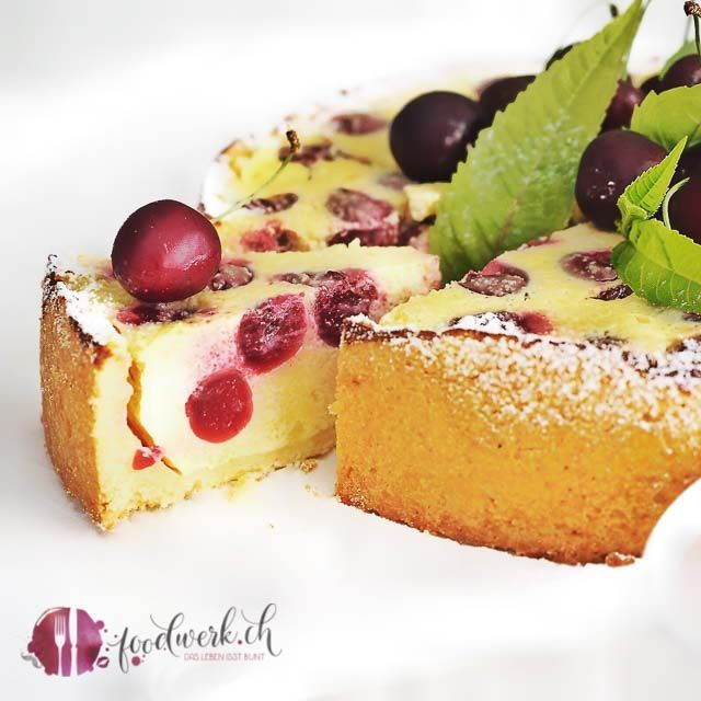 Grossmutters Kirschkuchen Mit Quark Kuchen Kasekuchen Mit Kirschen Und Kirschkuchen