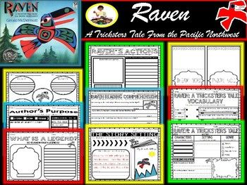My students absolutely loved this book. This set includes resources to accompany the book Raven: A Trickster Tale from the Pacific Northwest by Gerald McDermott . Included: Detail Web Fact and Opinion (Cut and Paste) Cause and Effect Making Predictions What is a legend?