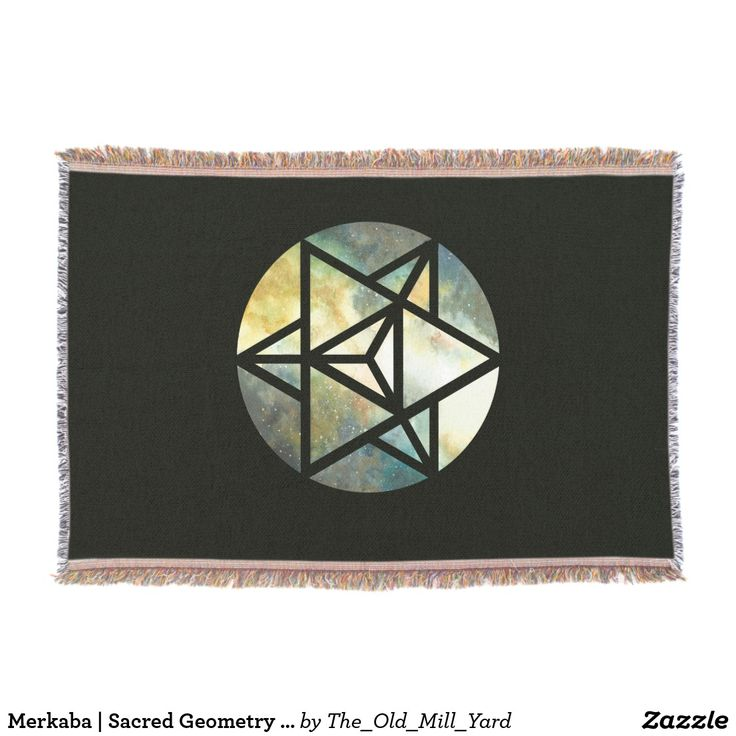 Merkaba | Sacred Geometry Blanket by Kari Weatherbee | Blanket | Throw Blanket | Home Decor